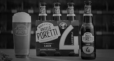 4 Luppoli lager<br>Con 4° luppolo coltivato in italia